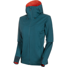 Mammut Ultimate V SO Capuchon Jas Dames, wing teal-pepper